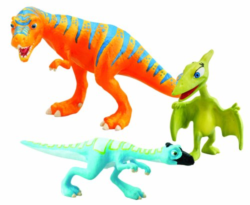 Learning Curve Dinosaur Train Collectible Dinosaur 3 Pack - My Friends Are Bipeds: Boris, Oren And Mrs. Pteranodon - 1