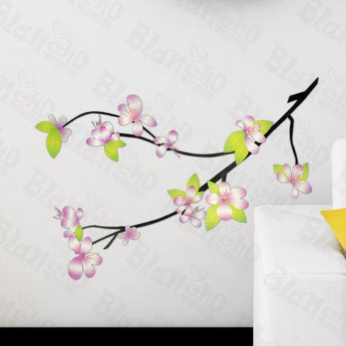 Hemu Living Room Bedroom Decorative Vinyl Mural Art Fresh Blossoms Wall Decals Stickers Appliques Home Decor front-68929