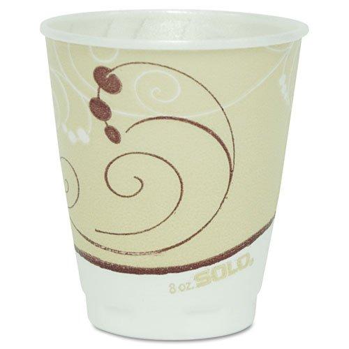 SOLO Cup Company Symphony Trophy Plus Dual Temperature Cups, 8 oz,100/Pack