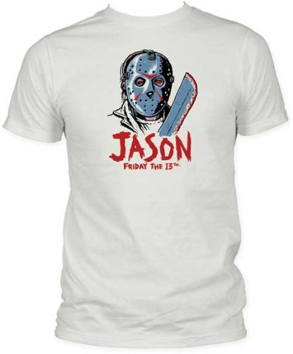 Friday the 13th Drawn Mens Vintage White T-shirt M