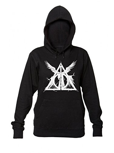Deathly Hallows Symbol Triangle Women's Hooded Sweatshirt Small