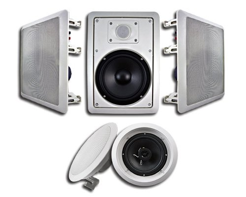 Acoustic Audio Ht-65 5.1 Home Theater Speaker System (White, 5)