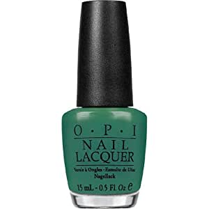 OPI Nail Lacquer, Jade Is The New Black, 0.5 Ounce