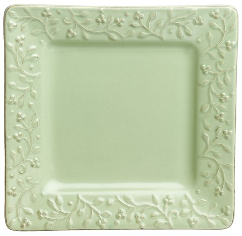Buy Signature Housewares Chelsea 8-Inch Square Salad Plates, Honeydew, Set of 6