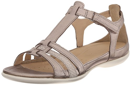 Ecco ECCO FLASH, Damen Knöchelriemchen Sandalen, Silber (WARM GREY METALLIC/MOON ROCK57462), 38 EU (5 Damen UK)
