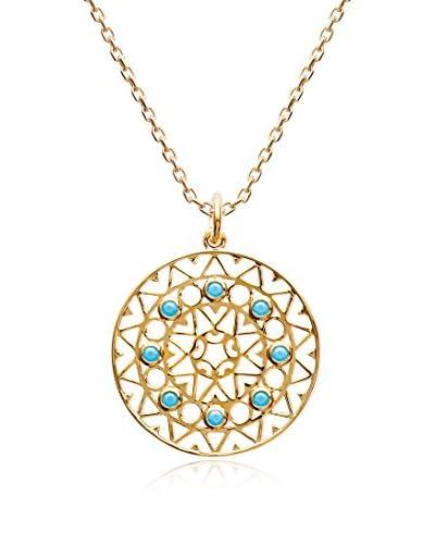 BALI Jewelry Conjunto de cadena y colgante metal bañado en oro 18 ct