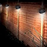 Ardisle 4Pc Garden Solar Powered Wall Fence Door Step Lights Led Outdoor Lighting Shed