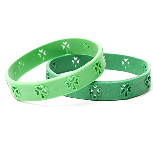 Shamrock Cut Out Rubber Bracelet (24/pack)