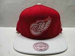 Mitchell & Ness NHL Detroit Red Wings Logo 2 Tone Retro Snapback Cap