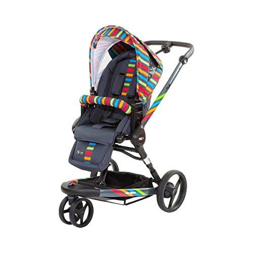 ABC-Design-Kombikinderwagen-3-Tec-Plus-Kinderwagen-Buggy-Jogger-mit-Sportwagen-Aufsatz-Rainbow-mit-innovativem-3-Stufen-Federsystem