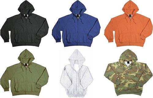 Thermal Lined Zipper Hoodie Sweatshirt
