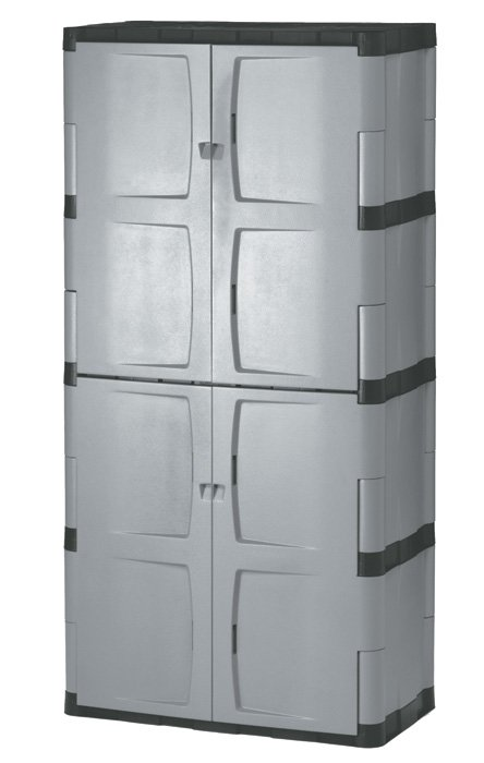 Scole rubbermaid large vertical storage shed assembly