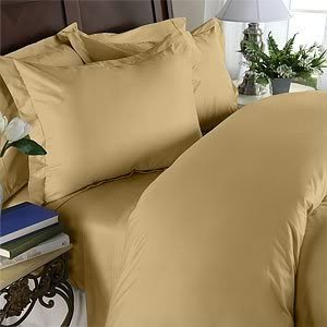 "Elegance Linen ® Wrinkle Resistant - 1200 Thread Count Luxurious Silky Soft 3 Pc Sheet Set, Deep Pocket Up To 16"" - All Size And Colors , Twin/Twin Xl, Gold"