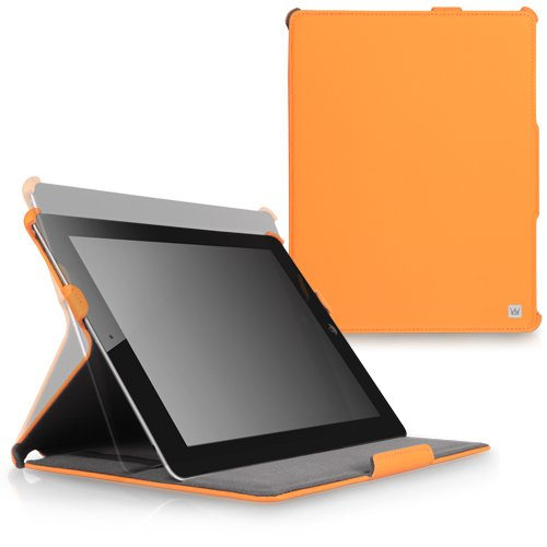 CaseCrown Ace Flip Case (Orange) for iPad 4th Generation with Retina Display, iPad 3 & iPad 2 (Built-in magnet for sleep / wake feature)
