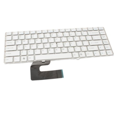 Sony Vaio Vgn-Nw270F Laptop Keyboard White (Compatible Replacement)