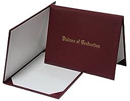 GraduationMall Imprinted Diploma Cover Maroon 8 1/2