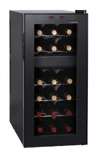 Best Review Of HOMEIMAGE DUAL-ZONE Thermo Electric Wine Cooler for 18 Bottles - HI-18T
