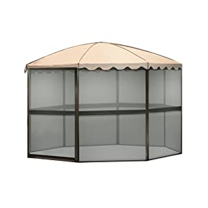 Casita 8 Panel Round Screenhouse 83265, Brown with Almond Roof by Casita