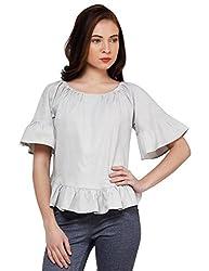 Oxolloxo Women cotton grey top