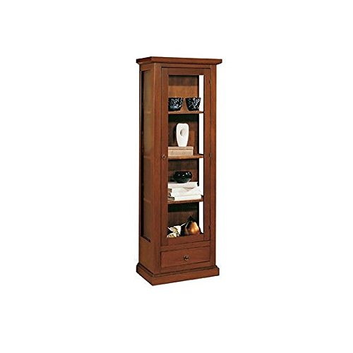 Library Display Cabinet Arte povera Wood Col.Walnut Living Room Input – As Photo