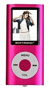 MP3-Player Portabel - mit 8 GB Speicherkarte - PINK - MP3 Player / MP4 Player - Lange Akkulaufzeit, FM Radio, E-Books, Voice Recorder, integrierter Lautsprecher, Sleep Timer, erweiterbar mit 2, 4, 8, 16 GB durch microSD - Speicherkarten BERTRONIC ®