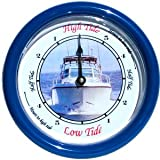 Nautical Tide Clock with Fishing Boat Dial Design