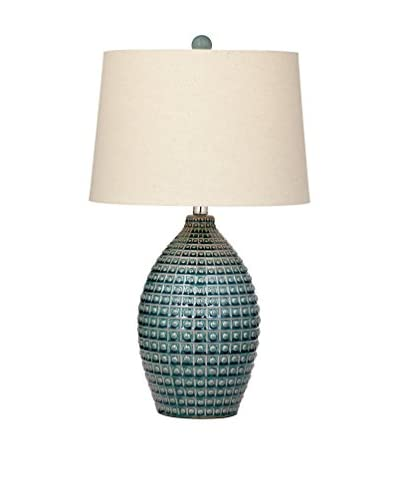 Bassett Mirror Co. Hurst 1-Light Table Lamp, Aqua Blue