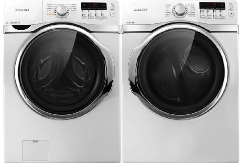Samsung 3.9 cu ft. Steam Washer and Electric Dryer WF393BTPAWR_DV393ETPAWR