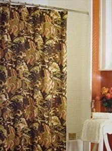 rainey paisley toile fabric shower curtain