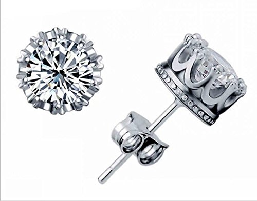 luckyjj-new-fashion-925-sterling-silver-crown-shaped-austrian-crystal-stud-earrings-for-both-men-and