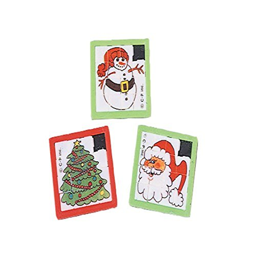 Dozen Assorted Christmas Theme Mini Slide Puzzles - 2.5""