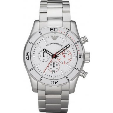 Emporio Armani AR5932 Mens Sports Luxe White Steel Watch