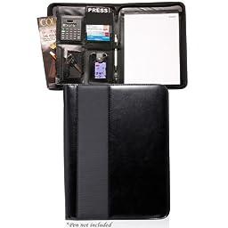 Bags for LessTM Deluxe Black Striped Vibe Portfolio
