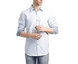 Scotchtree Men's Shirt (sco_007_Blue_Large)