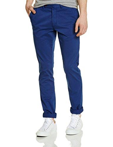 Hackett London - Kensington Slim Chino, Pantalone da uomo, blu(bleu océan), taglia produttore: 34