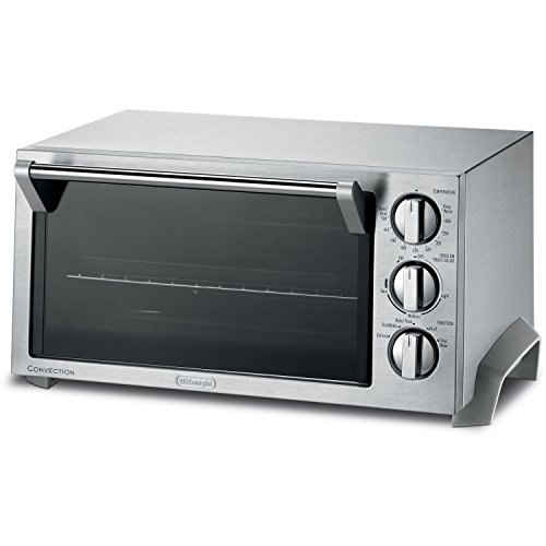 Delonghi 1400 Watt Convection Oven and Toaster Oven with Durastone II Enamel Interior and Convenient Timer