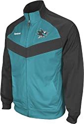 San Jose Sharks Reebok 2011 Center Ice Full Zip Travel Jacket