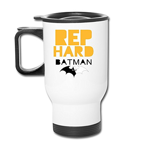 XHAPPY MUGS Rep Batman Hard Travel-mug White