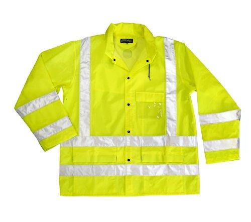 Dutch Harbor Gear Men's Maxflect Rain Jacket, Neon, Large (Dutch Harbor Rain Gear compare prices)