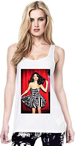 Selena Gomez Kisses Continental Tunica maglia delle donne Women Tunic Jersey Stylish Fashion Fit Custom Apparel By Genuine Fan Merchandise Medium