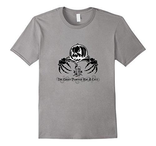 Men's The Great Pumpkin Has A Cult T-Shirt 3XL Slate (Cult Classic Halloween Costume Ideas)