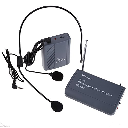Vktech Professional Transmitter With Clip-On Heads Wireless Microphone Sh-600