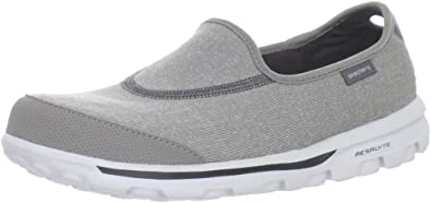 Skechers Go Walk Womens Slip On Shoes UK 8 Grey