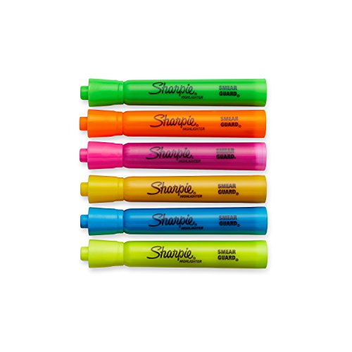 Sharpie Accent Tank-Style Highlighters, 6 Colored Highlighters (25076)