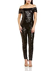 French Connection Womens Jumpsuit (7GCPA_Black Hologram_Small)