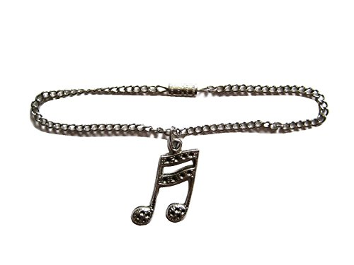 Glamerup: Music Note (Antique Silver) Doll Necklace - Handmade to Fit Most 18 inch Dolls - 1