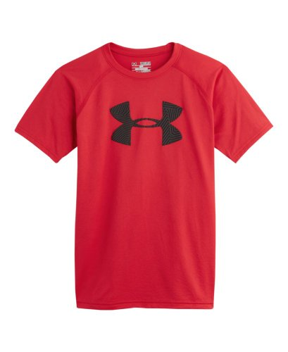 Under Armour Big Boys' Ua Big Logo T-Shirt Youth Small Red front-1042202