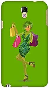 Kasemantra Shopaholic Girl in Dark Green Case For Samsung Galaxy Note3 Neo