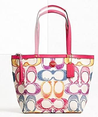 Coach Signature Scribble Print Smallmedium Tote Bag 21894
