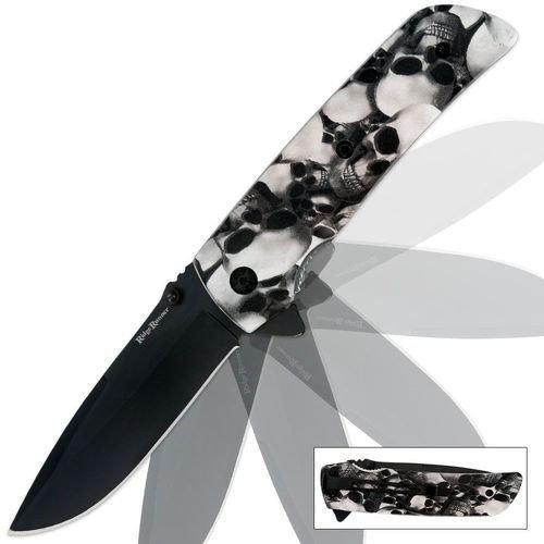 Ridge Runner Skull Camo Pocket Knife White     Ridge Runner